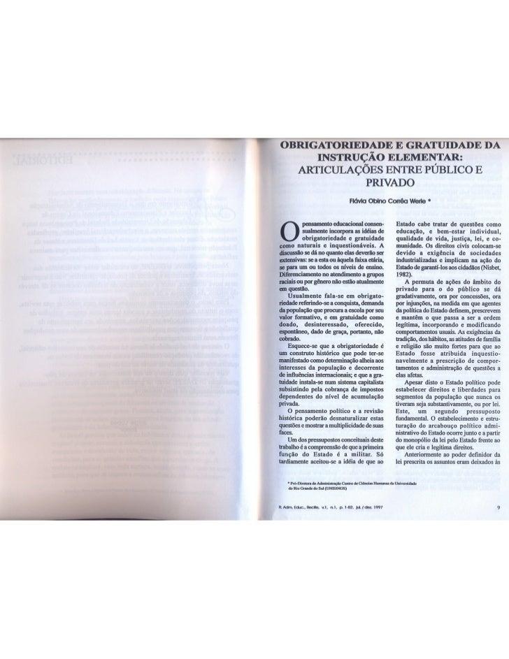 Obrigatoriedade e gratuidade da instrução elementar: articulações entre público e privado