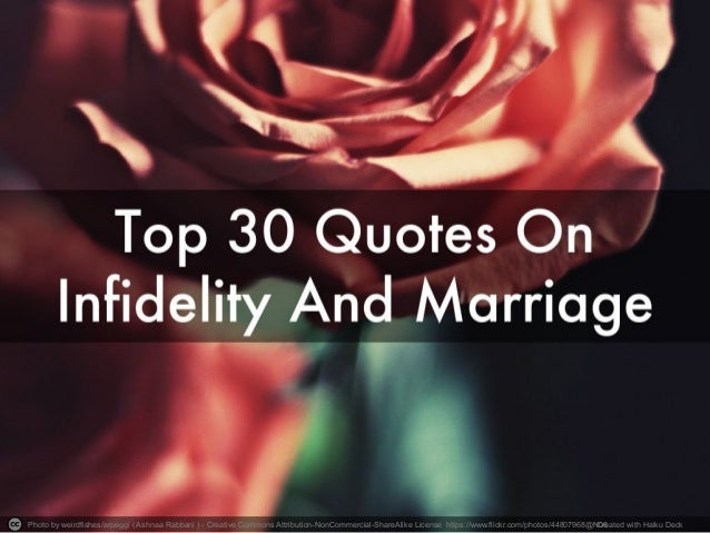 Infidelity in marriages
