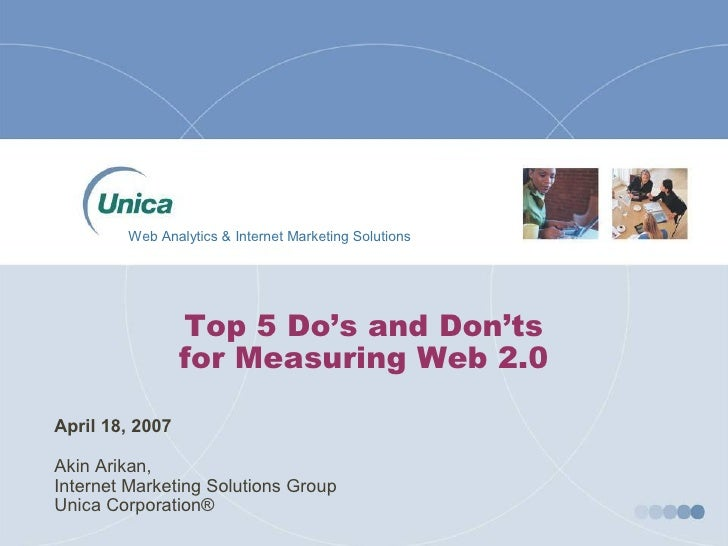 Web Analytics & Internet Marketing Solutions                       Top 5 Do's and Don'ts                   for Measuring W...