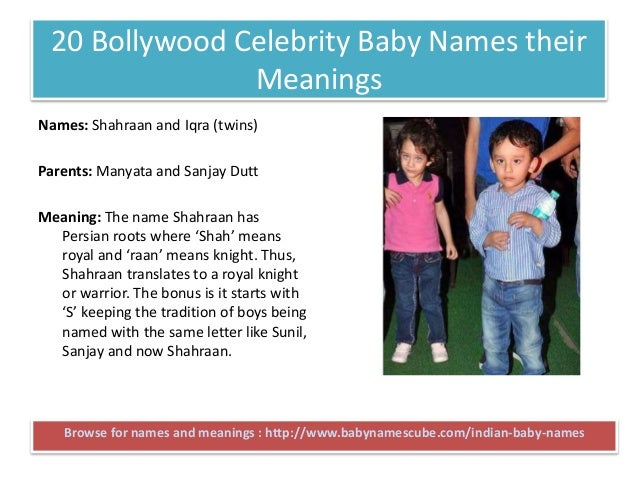 Top Bollywood Celebrity Baby Names their Meanings