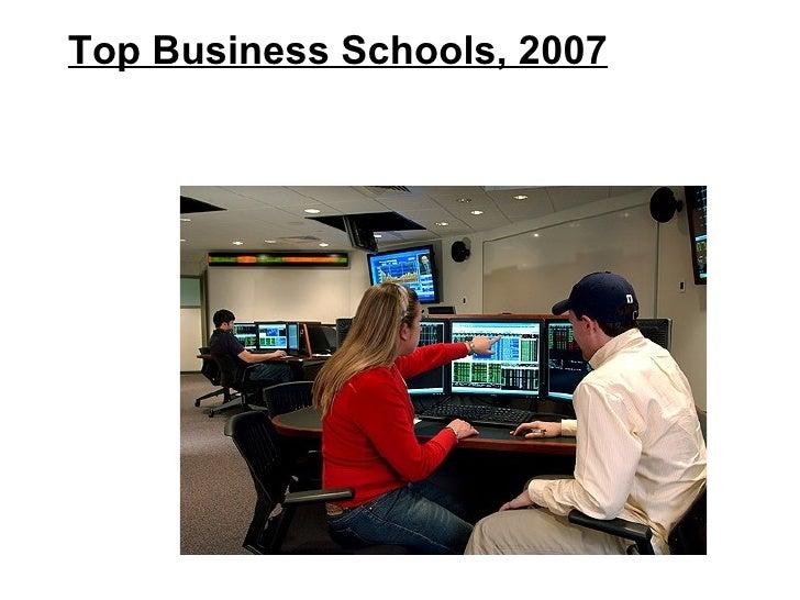 Top Business Schools, 2007