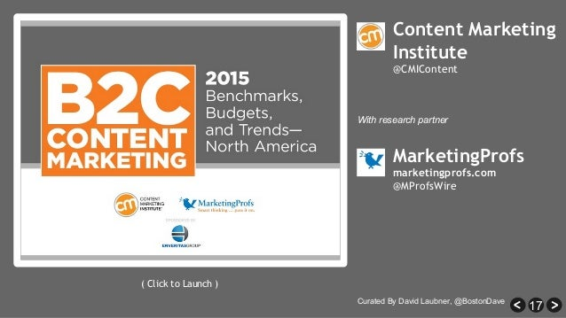 17 MarketingProfs marketingprofs.com @MProfsWire ( Click to Launch ) Curated By David Laubner, @BostonDave With research p...