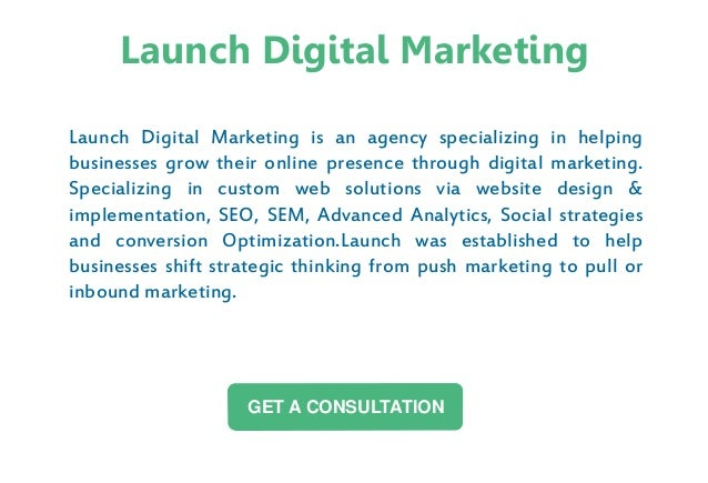 Launch Digital Marketing is an agency specializing in helping businesses grow their online presence through digital market...