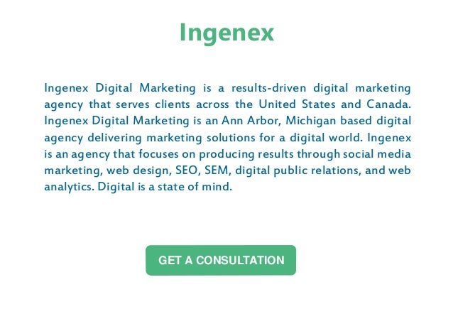 Ingenex Digital Marketing is a results-driven digital marketing agency that serves clients across the United States and Ca...