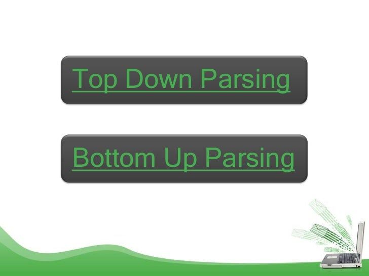 Top Down ParsingBottom Up Parsing