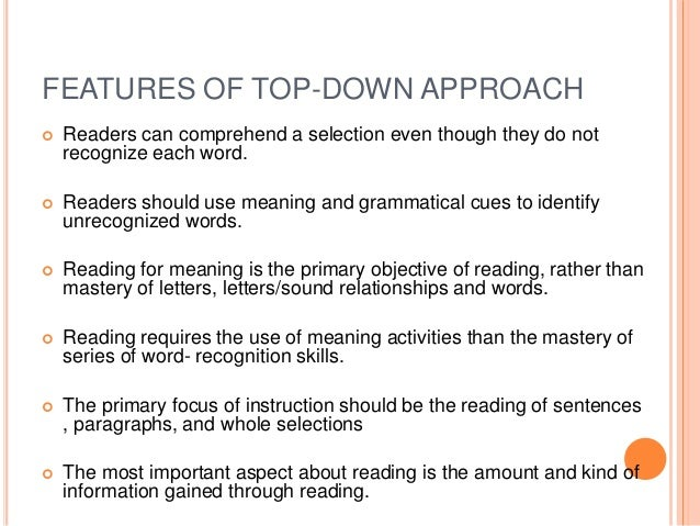 top down bottom up approach pdf