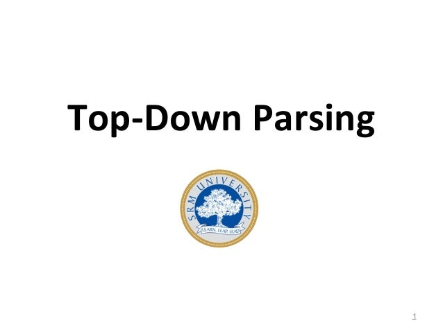 Top-Down Parsing 1