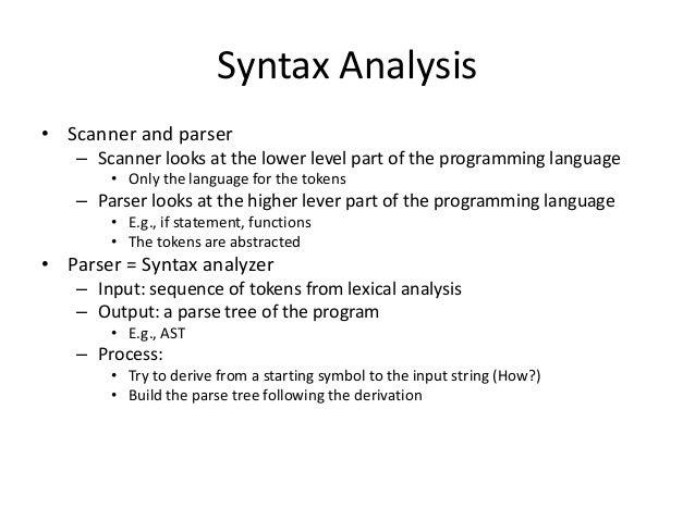 Top down parsing(sid) (1) Slide 3