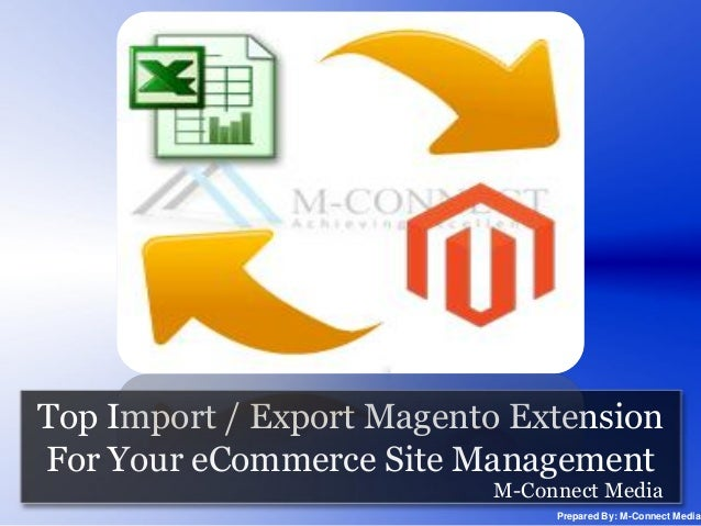 Top Import / Export Magento Extension For Your eCommerce Site Management M-Connect Media  Prepared By: M-Connect Media