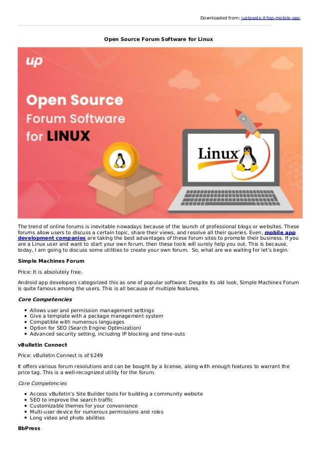 Open Source Forum Software for Linux