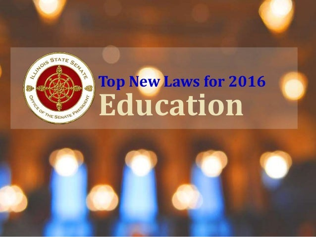 Top New Laws for 2016 Education