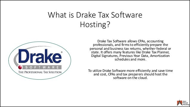 Top 4 Reasons to Host Drake Software on Cloud
