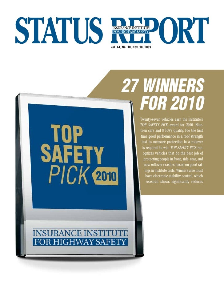 Vol. 44, No. 10, Nov. 18, 2009            27 winners          for 2010                      Twenty-seven vehicles earn the...