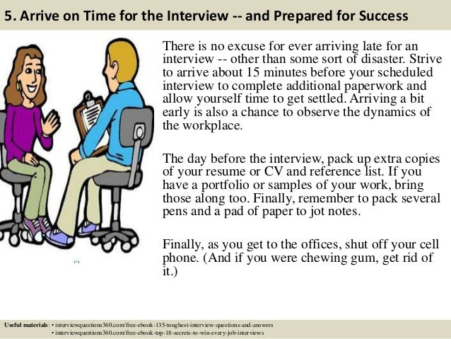 reference list for job interview