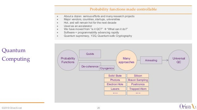 Probability functions made controllable ª About a dozen serious efforts and many research projects ª Major vendors, countr...