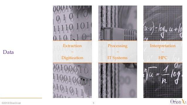 Data Extraction – Digitization Processing – IT Systems Interpretation – HPC ©2018 OrionX.net 5