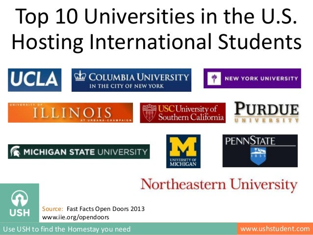 www.ushstudent.comUse USH to find the Homestay you need Top 10 Universities in the U.S. Hosting International Students Sou...