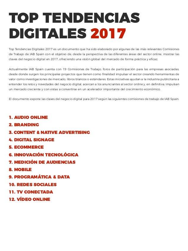 Top Tendencias Digitales 2017 Slide 2