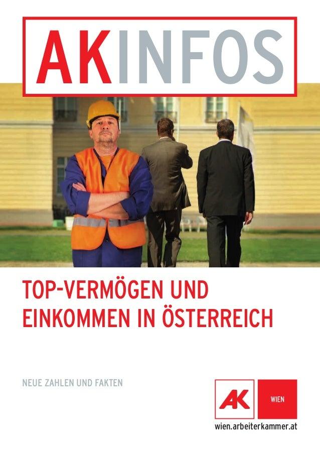 Top-VErmögen und  Einkommen in Österreich  Neue Zahlen und fakten  wien.arbeiterkammer.at