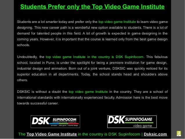Video Game Design College India DSK International Campus Pune Offe - Best video game design schools