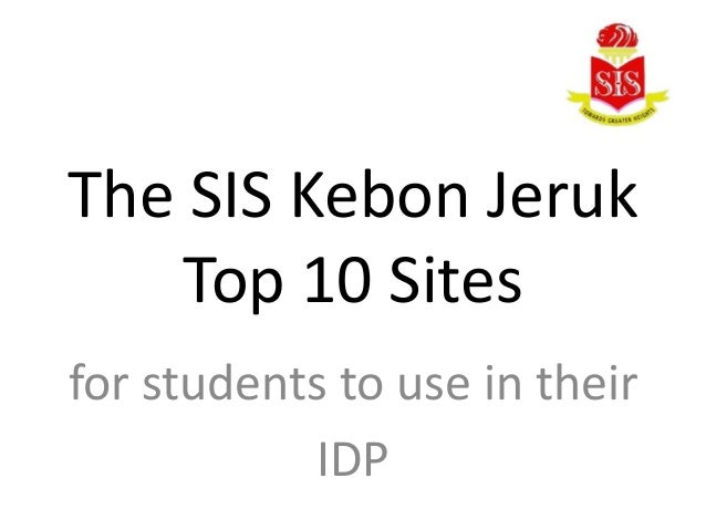 The SIS Kebon Jeruk Top 10 Sites for students to use in their IDP