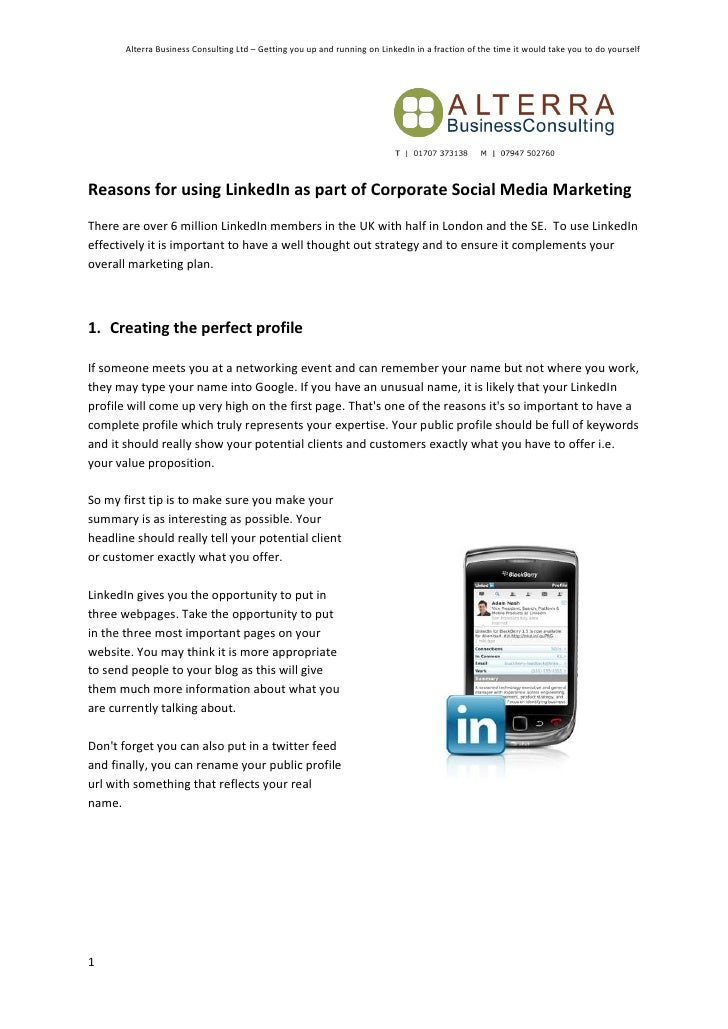 Alterra Business Consulting Ltd – Getting you up and running on LinkedIn in a fraction of the time it would take you to do...
