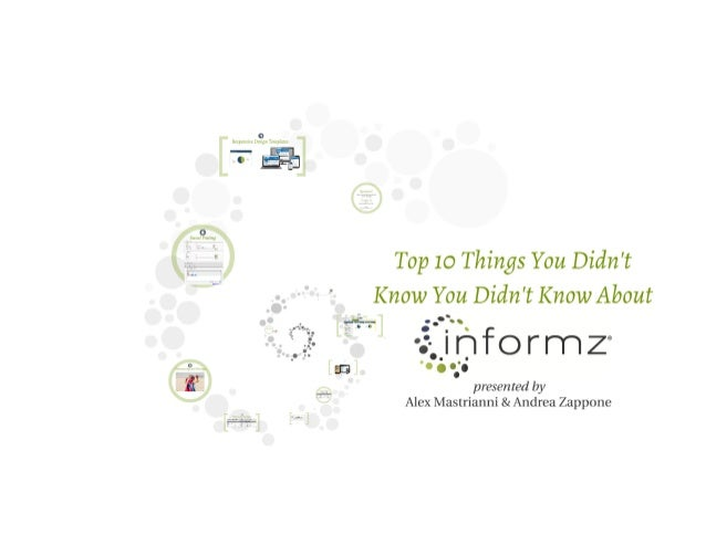 Top 10 Things You Didn't Know You Didn't Know About Informz