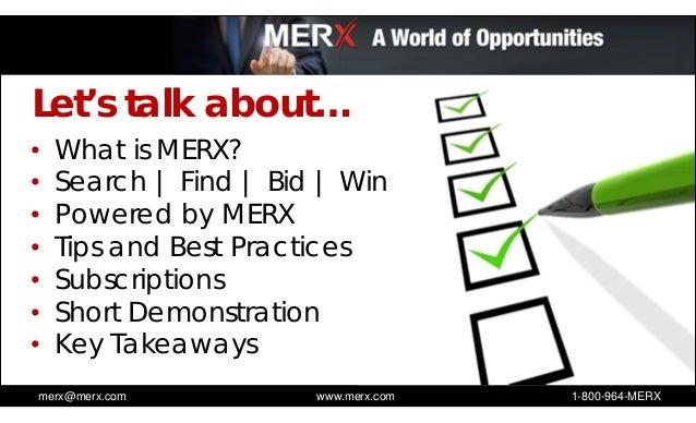 Use MERX to help grow your business - Webinar Slideshow Slide 2