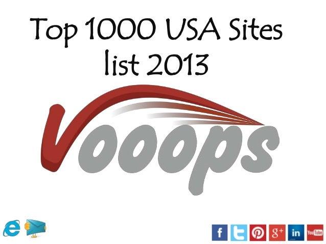 Top 1000 USA Sites list 2013