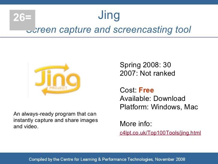 26=                                  Jing     Screen capture and screencasting tool                                       ...
