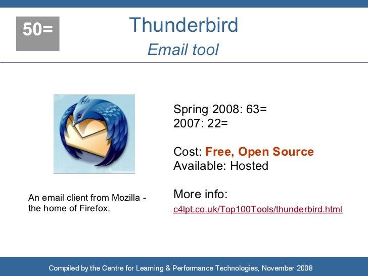 50=                      Thunderbird                                  Email tool                                       Spr...
