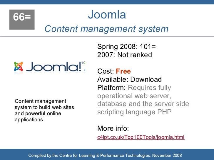 66=                         Joomla             Content management system                              Spring 2008: 101=   ...