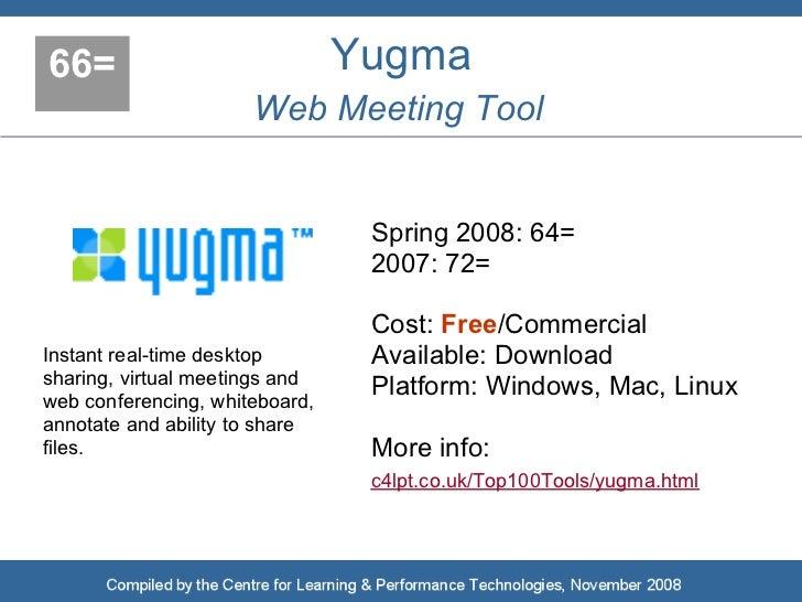 66=                             Yugma                       Web Meeting Tool                                    Spring 200...
