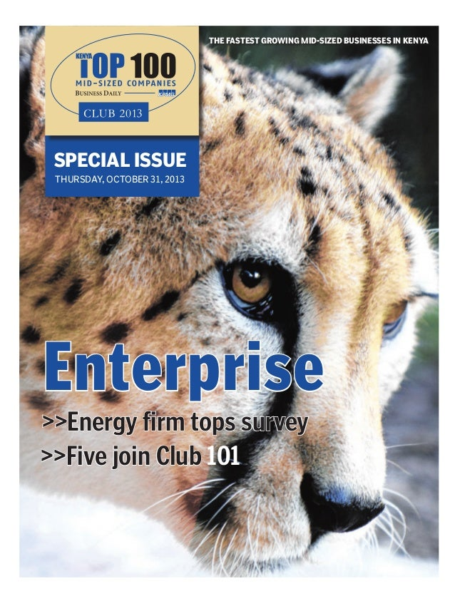 Kenya Top 100-Online Newspaper -THE FASTEST GROWING MID-SIZED BUSINES…