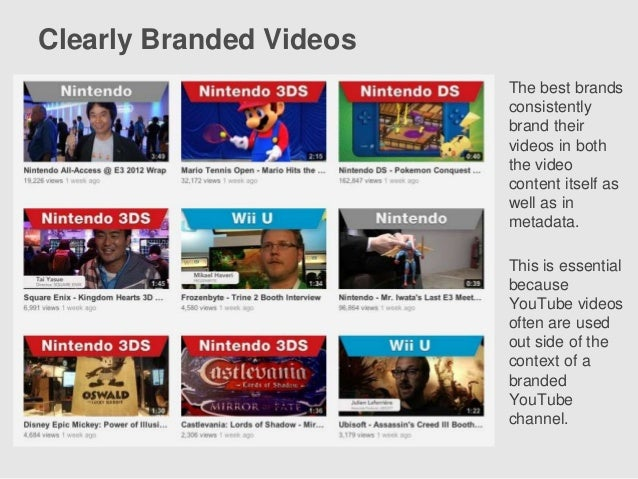 The Top 100 Global Brands On YouTube