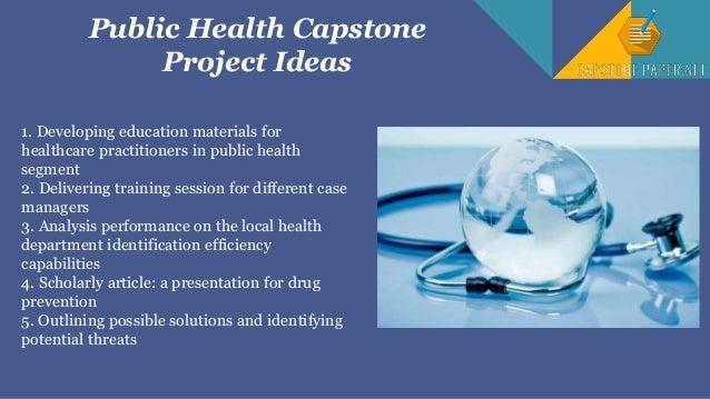 public health capstone project ideas