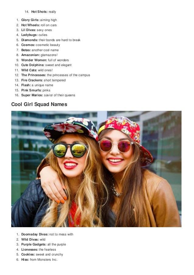 Top 100 cool girl squad names cute nicknames [inoreader]