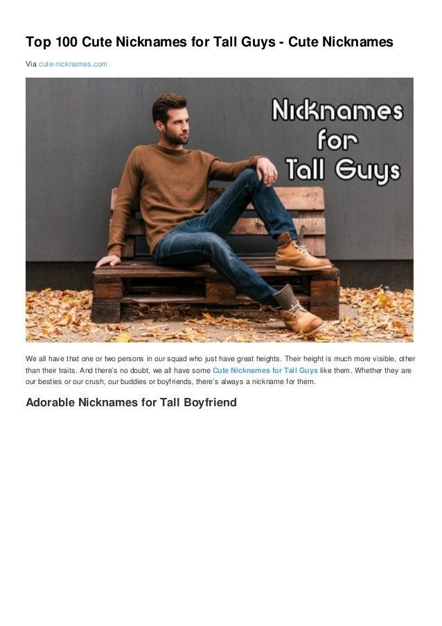 31+ Cute pet names for tall boyfriend info