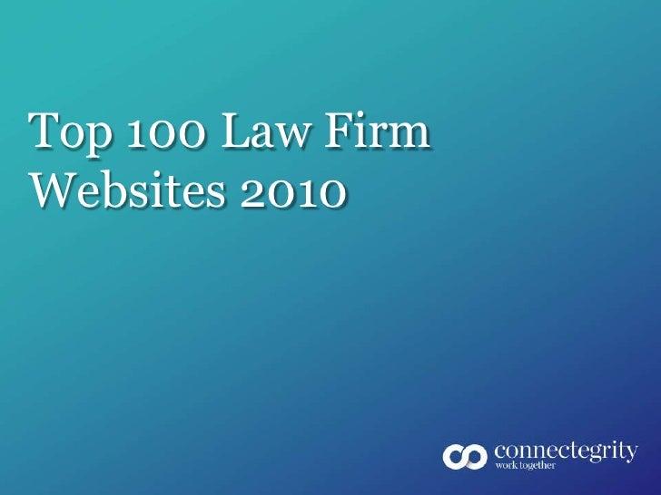Top 100 Law Firm Websites 2010<br />