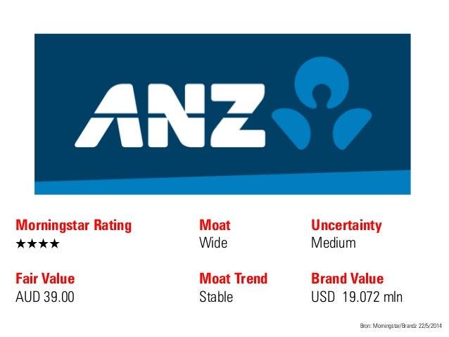 Morningstar Rating QQQQ Fair Value AUD 39.00 Moat Wide Moat Trend Stable Bron: Morningstar/Brandz 22/5/2014 Uncertainty Me...