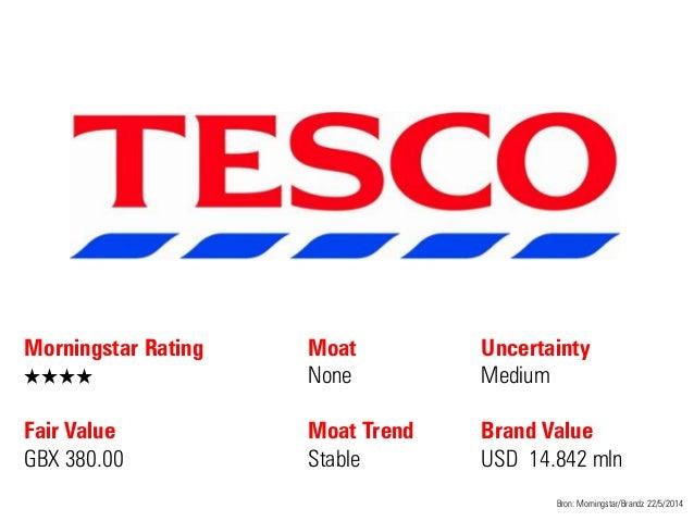 Morningstar Rating QQQQ Fair Value GBX 380.00 Moat None Moat Trend Stable Bron: Morningstar/Brandz 22/5/2014 Uncertainty M...