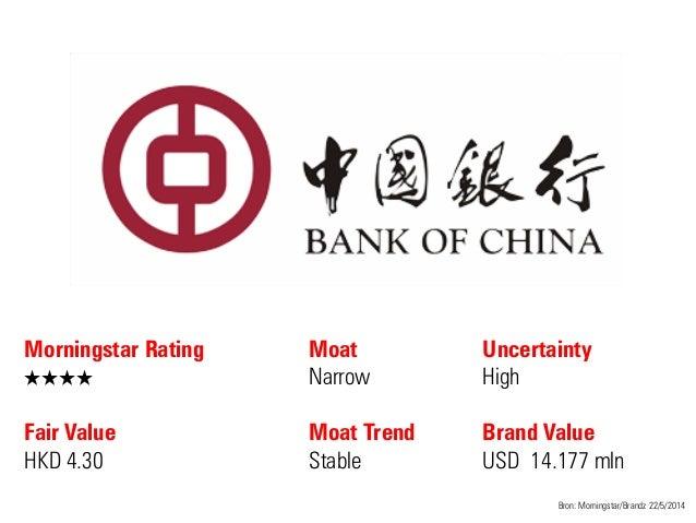 Morningstar Rating QQQQ Fair Value HKD 4.30 Moat Narrow Moat Trend Stable Bron: Morningstar/Brandz 22/5/2014 Uncertainty H...