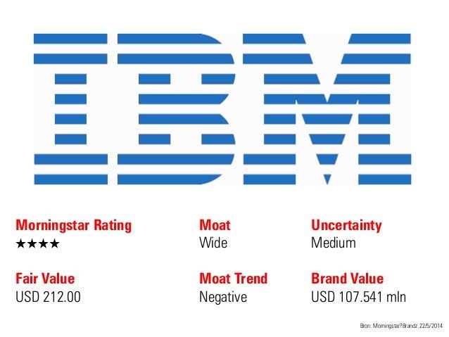 Morningstar Rating QQQQ Fair Value USD 212.00 Moat Wide Moat Trend Negative Bron: Morningstar?Brandz 22/5/2014 Uncertainty...