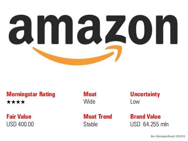 Morningstar Rating QQQQ Fair Value USD 400.00 Moat Wide Moat Trend Stable Bron: Morningstar/Brandz 22/5/2014 Uncertainty L...