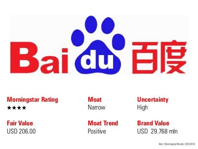 Morningstar Rating QQQQ Fair Value USD 206.00 Moat Narrow Moat Trend Positive Bron: Morningstar/Brandz 22/5/2014 Uncertain...