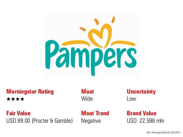 Morningstar Rating QQQQ Fair Value USD 89.00 (Procter & Gamble) Moat Wide Moat Trend Negative Bron: Morningstar/Brandz 22/...