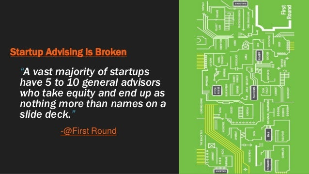 """Startup Advising Is Broken """"A vast majority of startups have 5 to 10 general advisors who take equity and end up as nothin..."""