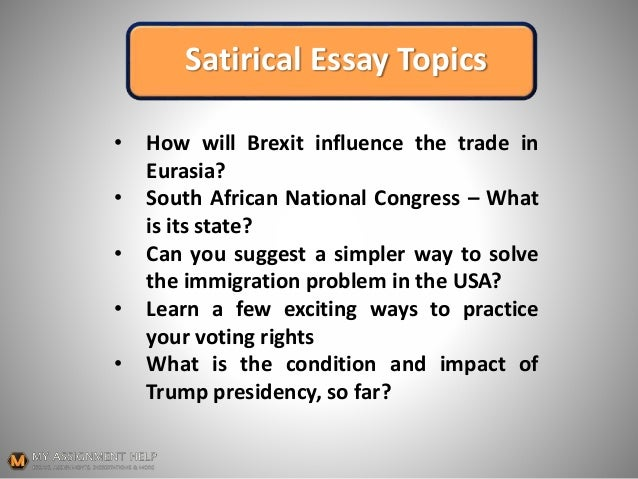 How To Start A Satirical Essay