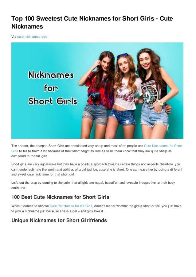 Top 100 Sweetest Cute Nicknames for Short Girls - Cute Nicknames Via cute- nicknames.