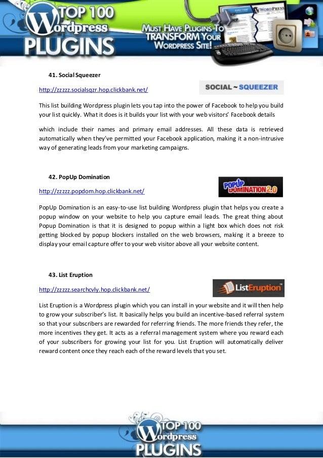 Top 100 wordpress plugins slideshare - 웹